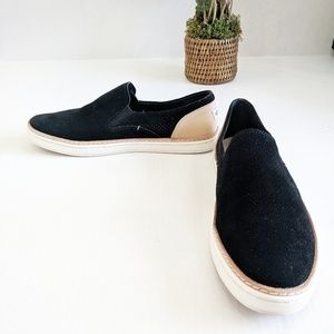 UGG Black Suede Adley Perf Fashion Sneaker 8